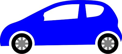 blue car logo