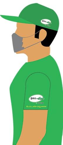 green masked man